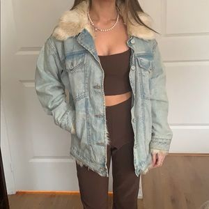 Urban Outfitters Fur lined Jean Jacket